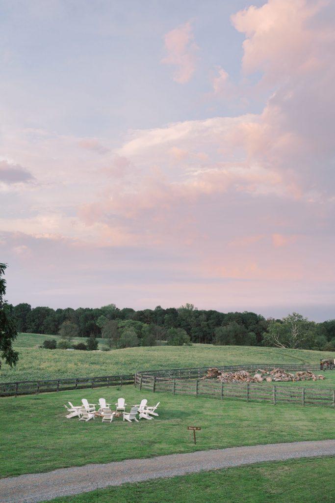 cotton candy skies at Sylvanside Farm