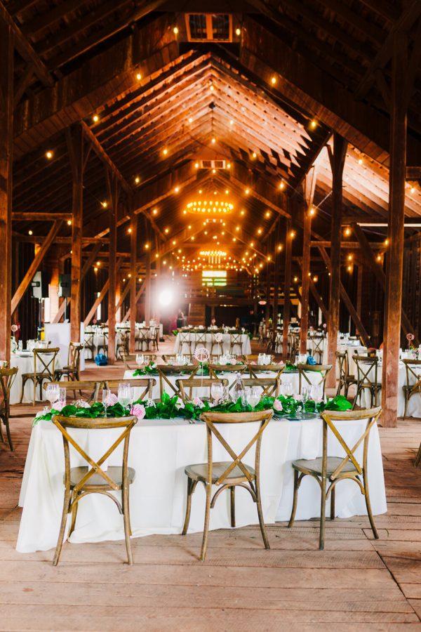 poplar barn wedding reception at Sylvanside Farm